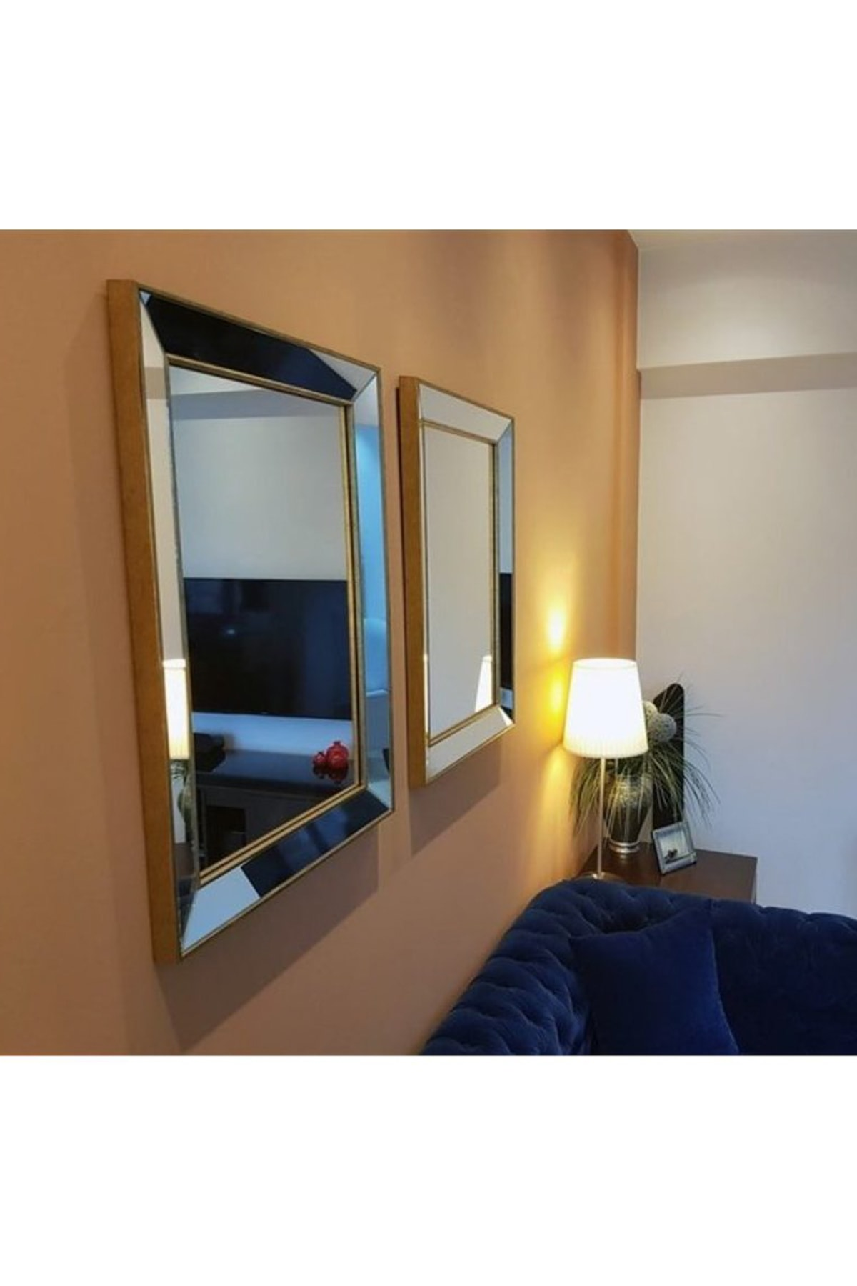 Vivense Neostill Dekoratif Duvar Salon Ofis Çerçeveli Ayna A403B 2