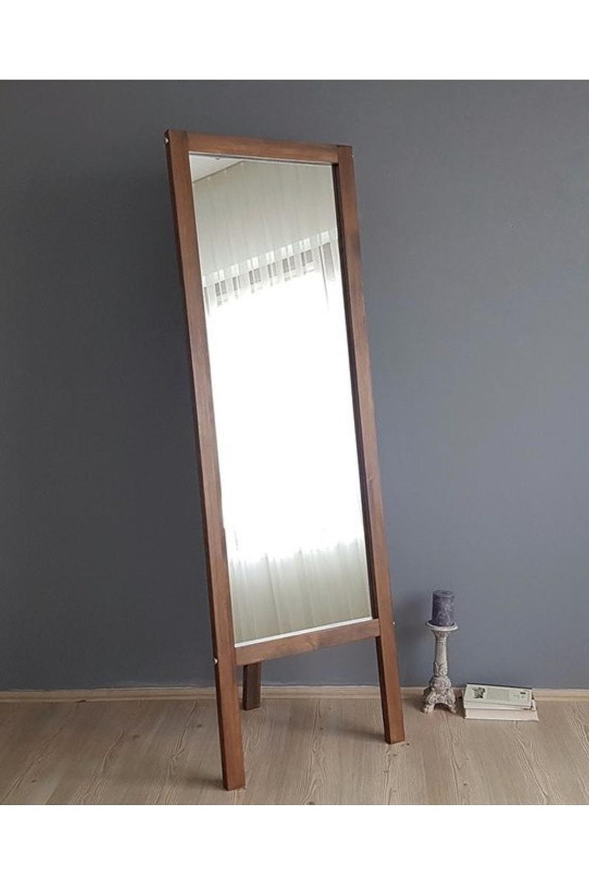 Vivense Neostill-Ayaklı Boy Ayna Masif Doğal Ahşap Ceviz 55X170 1