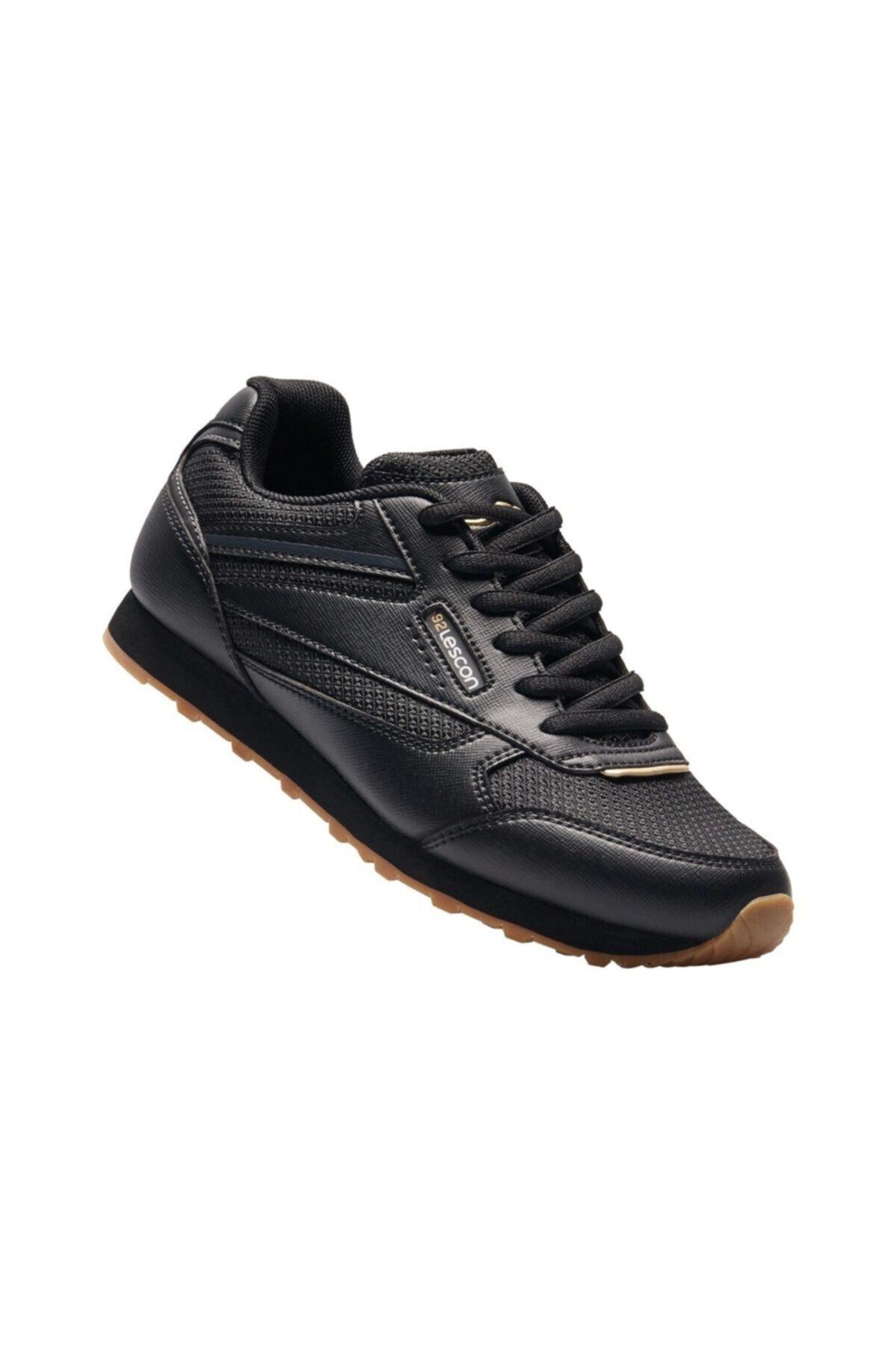 Lescon Kadın Siyah  Spor Casual Ayakkabı 1