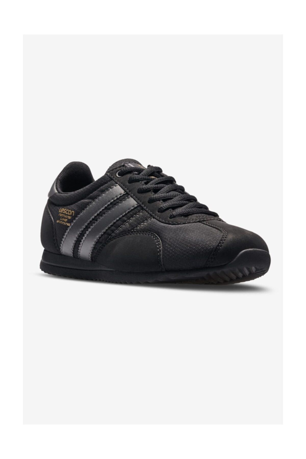 Lescon Kadın  Siyah  Spor Sneaker  Ayakkabı 1