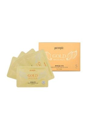 Petitfee Gold Neck Mask - Altın Özlü Boyun Maskesi 5 Adet