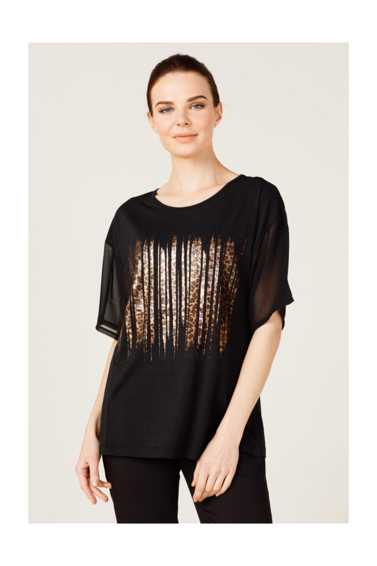 ON Önü Baskılı Kadın Tişört 2