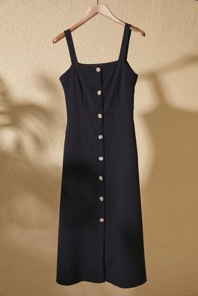 TRENDYOLMİLLA Lacivert Düğmeli Elbise TWOSS20EL1046