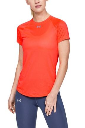 Under Armour Kadın Spor T-Shirt - UA Qualifier  Short Sleeve - 1326504-836