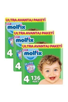 Molfix 4 Beden 408 Adet Bebek Bezi Ultra Avantaj Paketi