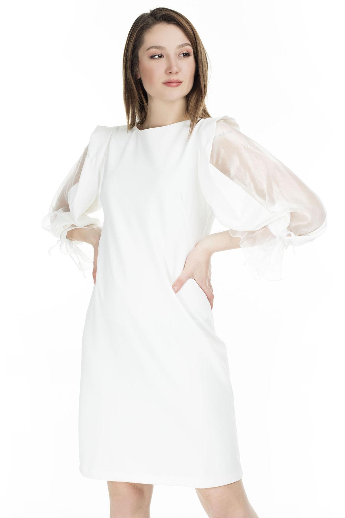 AYHAN Tül Detaylı Elbise KADIN ELBİSE 04660627