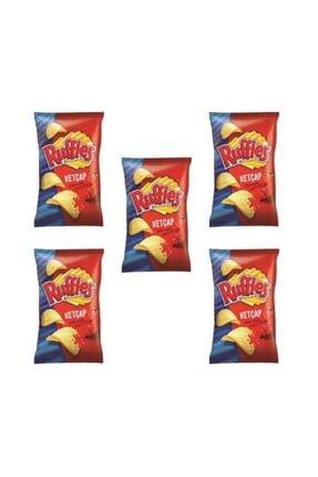 Ruffles Ketçap Aroma Çeşnili Patates Cipsi X 5 Ad