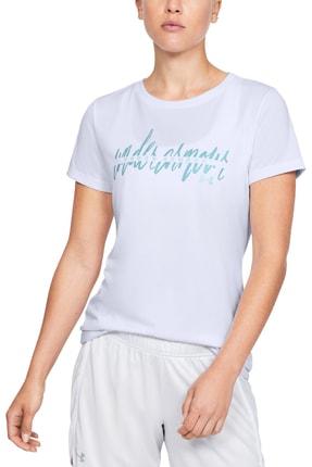 Under Armour Kadın Spor T-Shirt - Tech Script Graphic Ssc - 1351964-100