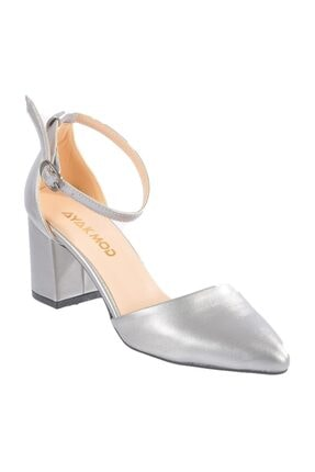 Maje Kadın Gümüş Topuklu Ayakkabı 1903