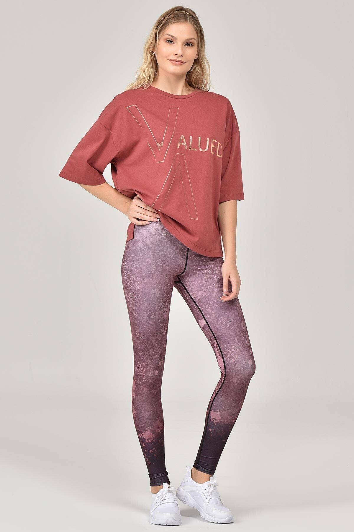 bilcee Kahverengi Kadın T-Shirt FW-1332 2