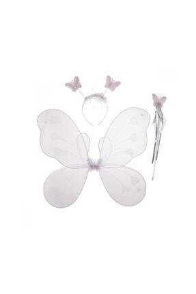 ADSM Çocuk Kelebek Kanat Beyaz 3'lü Set