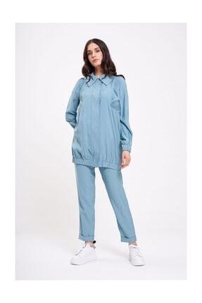 Mizalle Mızalle Büzgü Detaylı Ceket (mint)