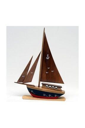 OKYANUS TEKNE Ahşap Yelkenli Yat Modeli – Gemi Tekne Maketi