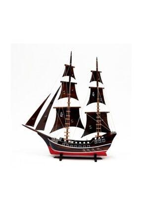 OKYANUS TEKNE Ahşap Yelkenli Kalyon Gemi Modeli - Tekne Maketi