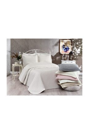 İpekçe Home Ipekçe Exculisive Nakışlı Yatak Örtüsü Ç.k Point Capuccino