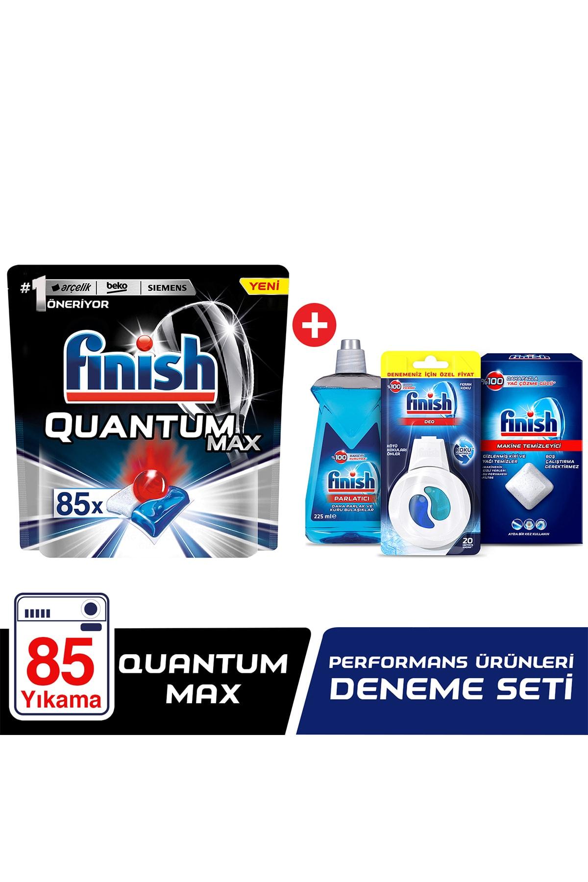 Finish Quantum Max 85 Kapsül Bulaşık Makinesi Deterjanı + Performans Deneme Seti 1