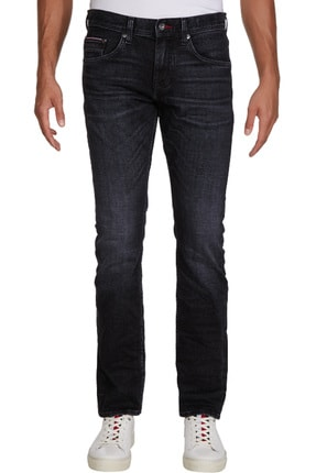 Tommy Hilfiger Erkek Straight Denton Sstr Ennis Black Jeans MW0MW13555
