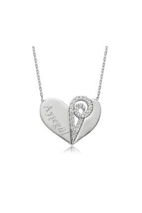 Gumush Kadın Gümüş Isimli Kalp Kolye