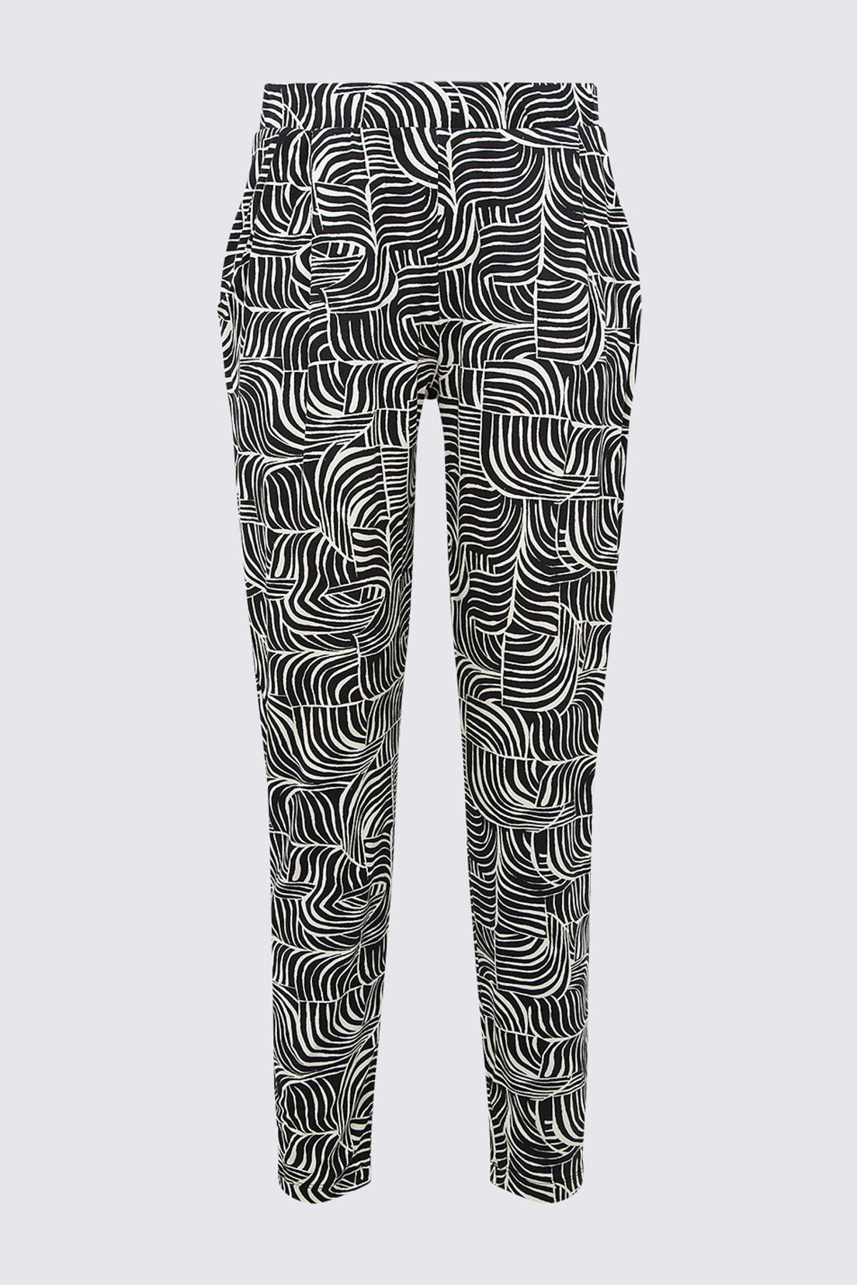 Marks & Spencer Kadın Siyah Pantolon T57006450H 1