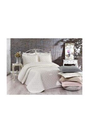 İpekçe Home Exculisive Nakışlı Yatak Örtüsü Kayra Capuccino