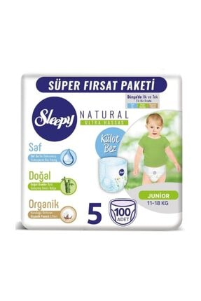 Sleepy Natural Külot Bez 5 Beden Junior 100 Adet