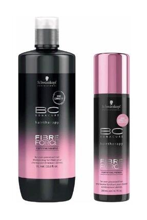 Bonacure Keratin Seti-Bc Fibre Force Keratin Şampuanı 1000 ml +Durulanmayan Sprey Krem 200 ml 2840095030312
