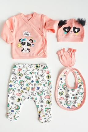 İmaj Gökkuşağı Panda Kız 5li Set Şeftali