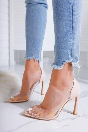 Limoya Kadın Evony Ten Şeffaf Ince Topuklu Stiletto