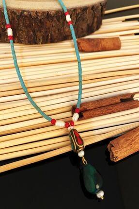 Dr. Stone Dr Stone Doğaltaş El Yapımı Inci , Mercan Ve Akik Taşı Nepal Kadın Kolye Ktdr49