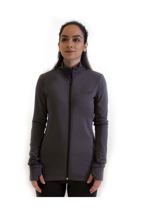 Lotto Sweatshirt Kadın Antrasit-davide Sweat Fz Pl W-r9575
