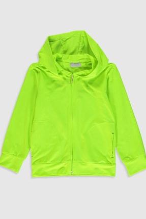 LC Waikiki Kız Çocuk Neon Yeşil Q0G Fermuarlı Sweatshirt