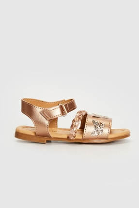 LC Waikiki Kız Çocuk Bronz J5U Sandalet