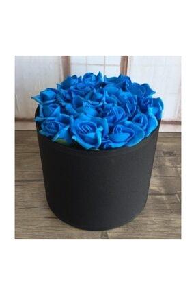 Lam'Bamboo Saten Kutuda Mavi Çiçekli Çikolatalar
