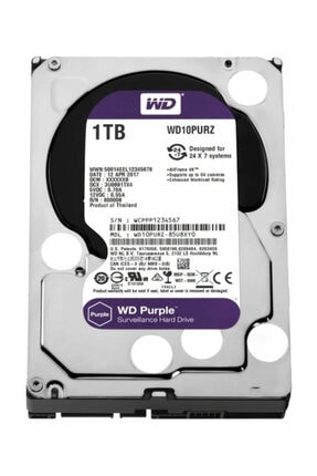 WD Purple 3.5 1TB 7200Rpm 64Mb Sata 3 6Gb/s 7/24 WD10PURZ