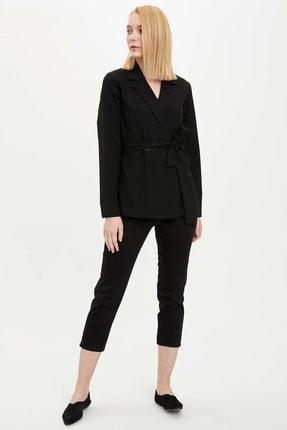 DeFacto Kadın Siyah Kapri Pantolon N8103AZ.20SM.BK27