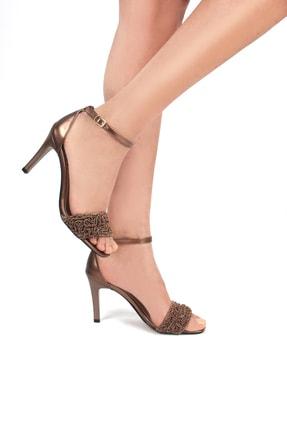 Gökhan Talay Woven Bakır Örgü Kadın Topuklu Ayakkabı