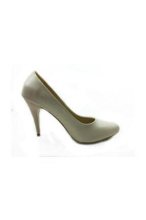 Almera Topuklu Bayan Ayakkabı - Pudra - 700