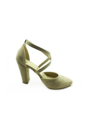 Almera Topuklu Ayakkabı - Ten-süet - 660