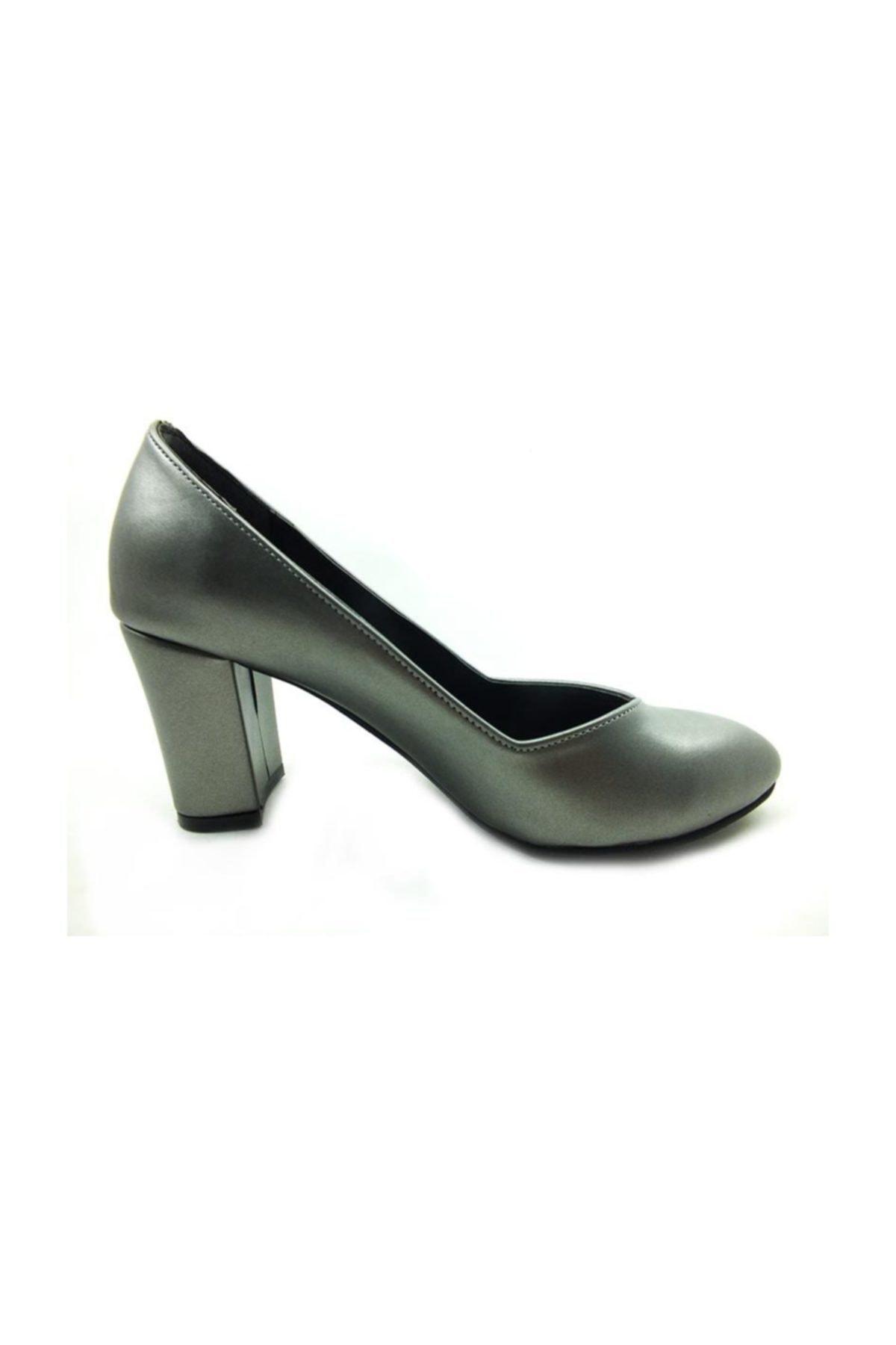 Çarıkçım Topuklu Ayakkabı - Platin - 205 1