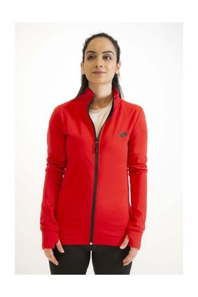 Lotto Sweatshirt Kadın Kırmızı-davide Sweat Fz Pl-r9577