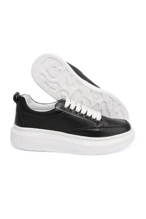 LETOON 2001 Kadın Günlük Deri Ayakkabı - Siyah
