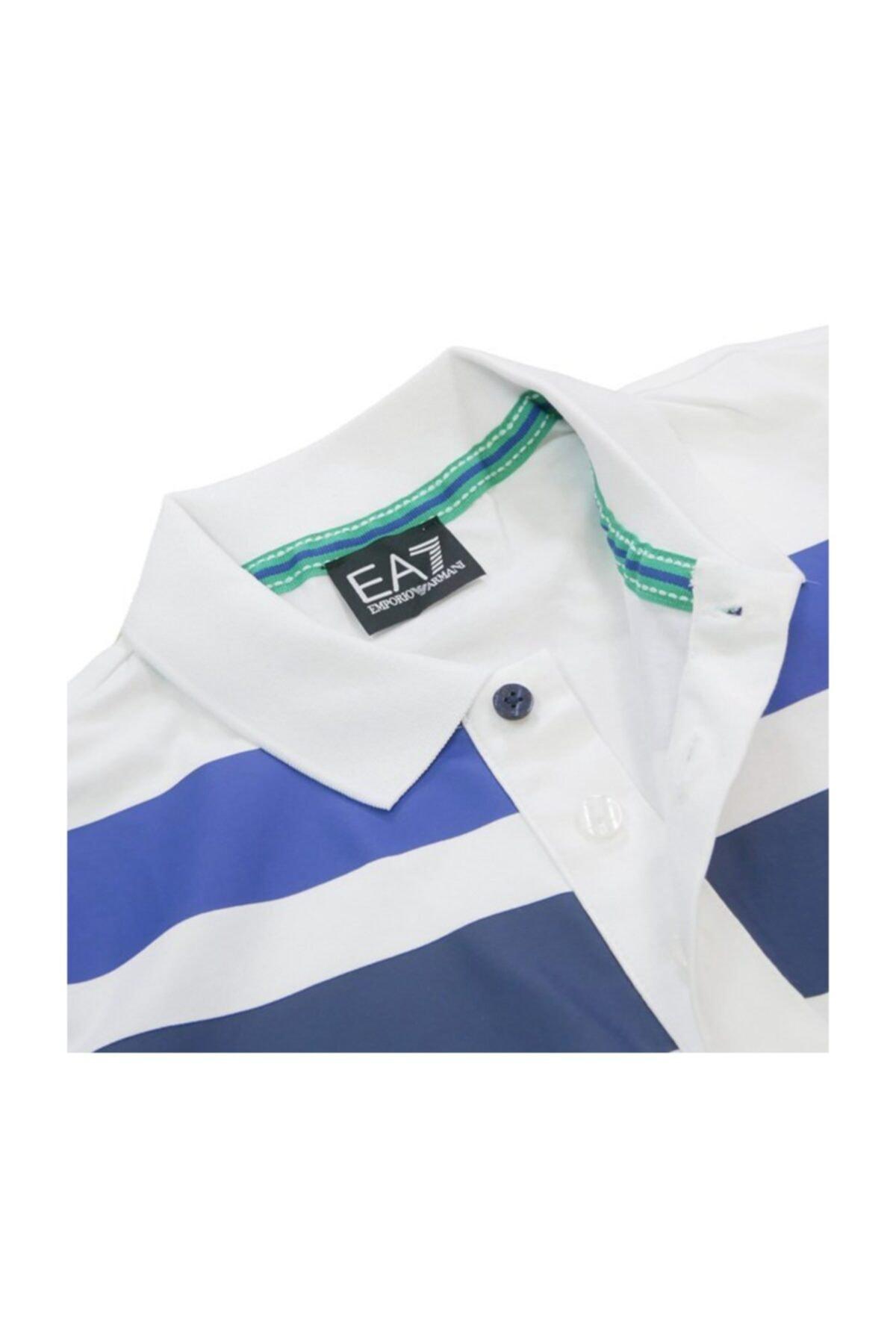 EA7 Erkek Slim Fit Polo T-shirt 3zpf81 Pj20z 2