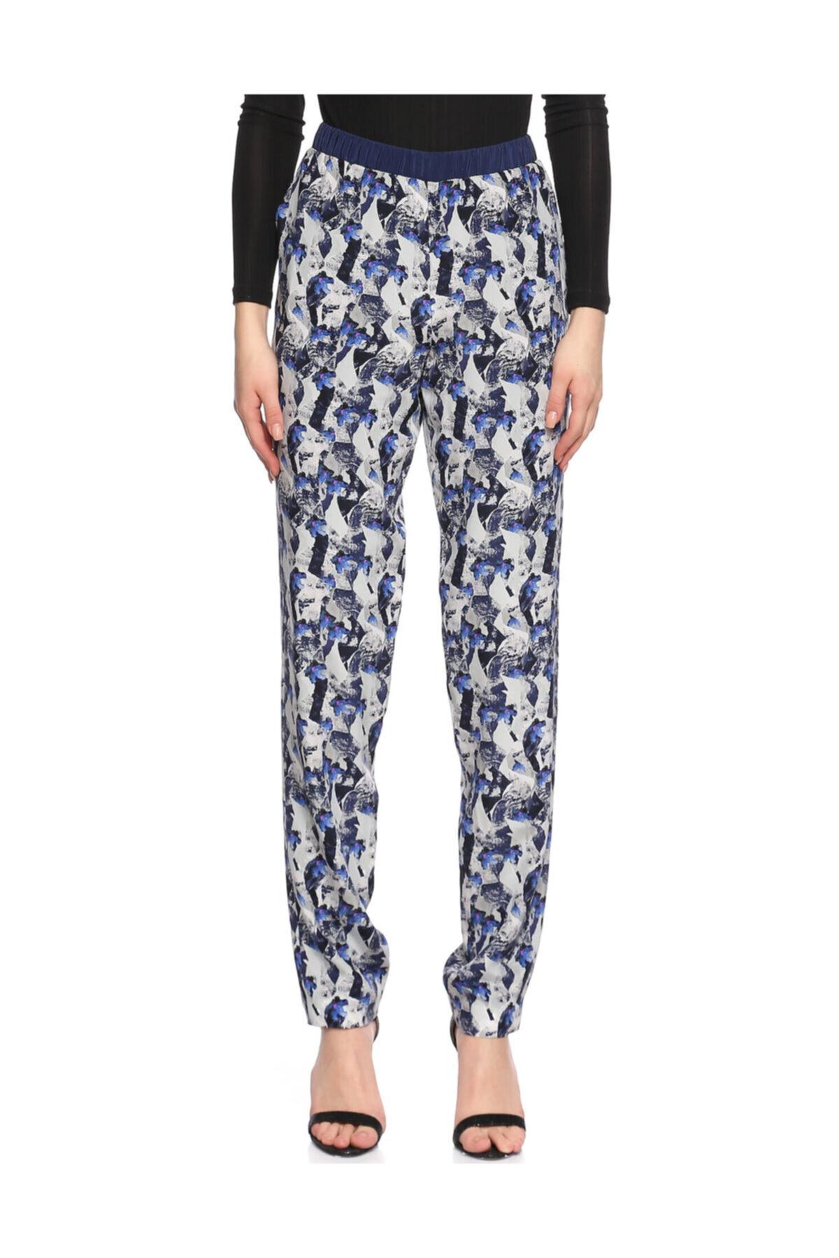 Prabal Gurung Desenli Lacivert Pantolon 1
