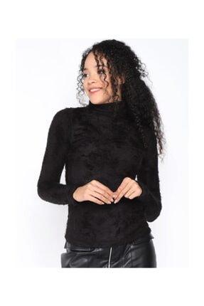 Twister Jeans Bt Peluş Boğazlı Bayan Triko 2200 Sıyah