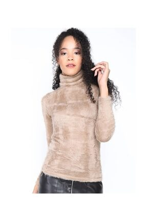 Twister Jeans Bt Peluş Boğazlı Bayan Triko 2200 Vizon