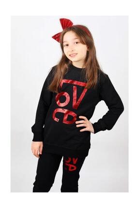 Woorage Siyah Renk Kız Çocuk Love Eşofman Takımı