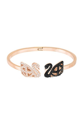 Swarovski Kadın Bilezik Facet Swan:Bangle Jet/Cry/Mix S 5372919