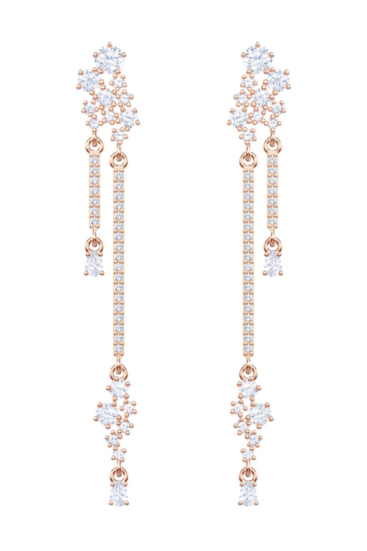 Swarovski Küpe Moonsun Pierced Earrings Drop Czwh/Ros 5486635 1