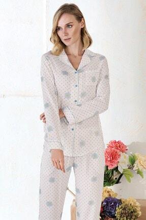 Lohusa Sepeti Pietra Lungo Önden Düğmeli Pijama Takımı 1183