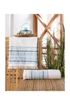 Nakkısh %100 Pamuk Banyo Havlu Seti 70x130-50x90-rodos